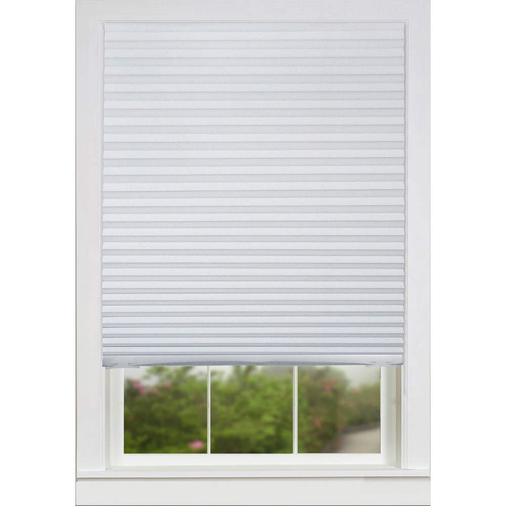 "Image of ""36""""x72"""" Set of 6 Room Darkening Temp Window Shade Panel with Clips White - Lumi"""