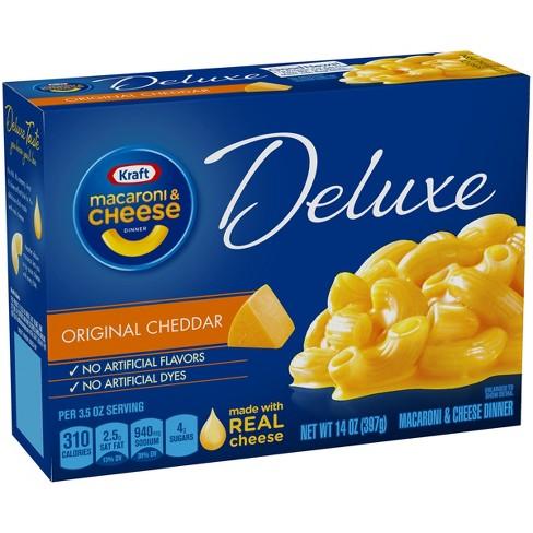 Kraft Deluxe Original Cheddar Macaroni Cheese Dinner 14 Oz