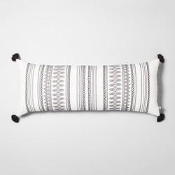 Lumbar Throw Pillow Railroad Gray / Sour Cream - Hearth & Hand™ with Magnolia