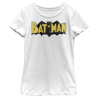 Girl's Batman Logo Vintage T-Shirt
