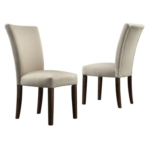 Quinby Parson Dining Chair Wood/Gray (Set of 2) - Inspire Q - image 1 of 5