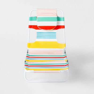 Beach Lounger Variegated Stripe Print - Yellow/Blue/Red - Sun Squad™