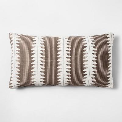 Brown Stripe Throw Pillow - Threshold™
