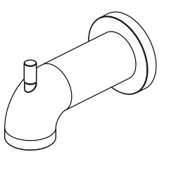 "Delta Faucet RP73371 Delta RP73371 Trinsic 6-1/8"" Diverter Wall Mounted Tub Spout"