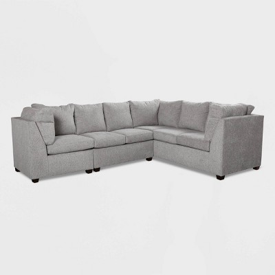 2pc Medford Sectional Sofa with Ottoman Gray - Threshold™