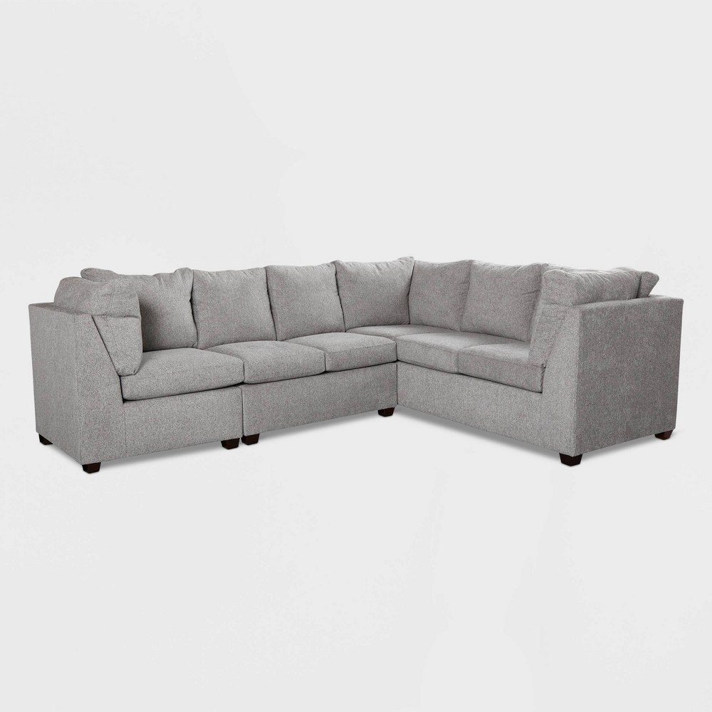 Image of 2pc Medford Sectional Sofa with Corner Gray - Threshold
