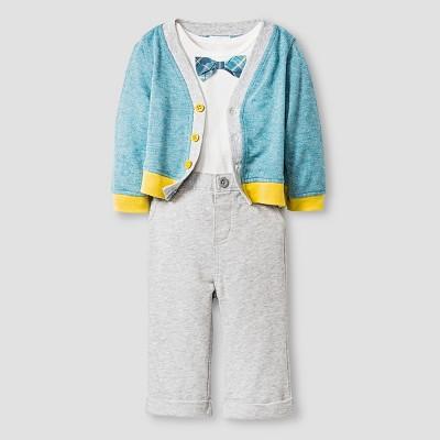 Baby Boys' Sweater, Bodysuit and Pants Cat & Jack™ - Sea/Gray 6-9M