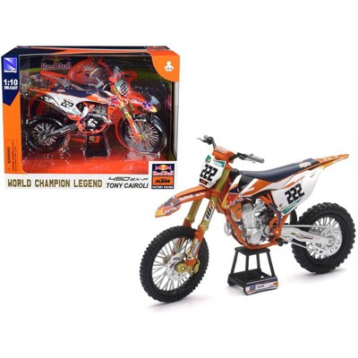 """KTM 450 SX-F #222 Tony Cairoli World Champion Legend """"Red Bull KTM Factory Racing"""" 1/10 Diecast Motorcycle by New Ray"""