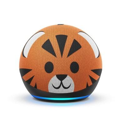Amazon Echo Dot (4th Gen)Kids Edition with Parental Controls - Tiger