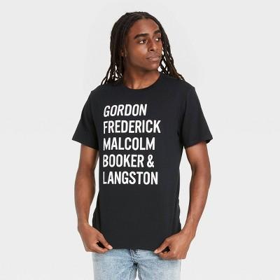Black History Month Men's Names Short Sleeve T-Shirt