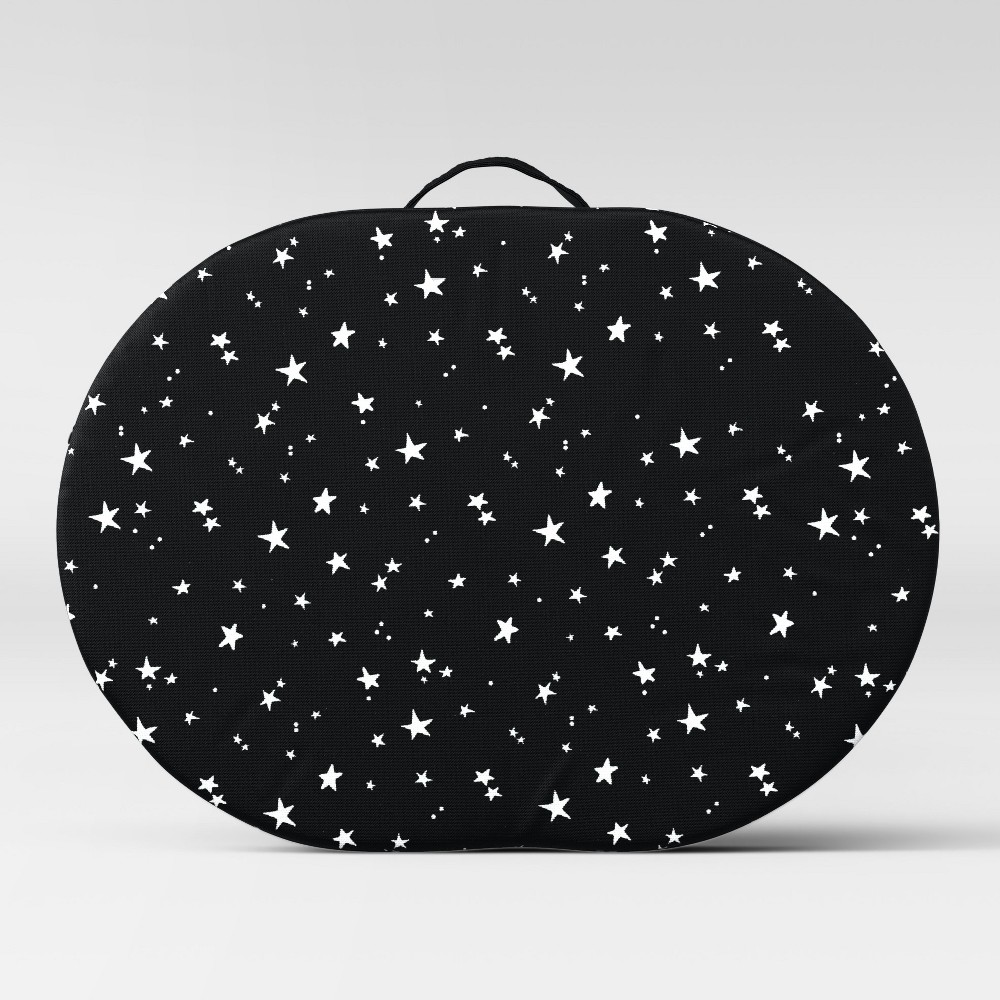 Kids' Storage Lapdesk with Zipper Stars Black - Pillowfort