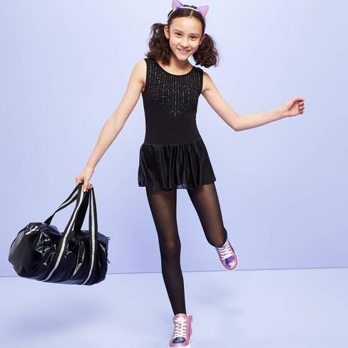 Girls' Dancewear Tank Leotard with Skirt - More Than Magic™ Black - image 1 of 3