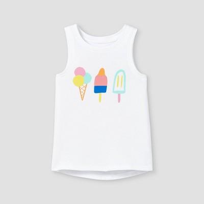Toddler Girls' Ice Cream Graphic Tank Top - Cat & Jack™ White