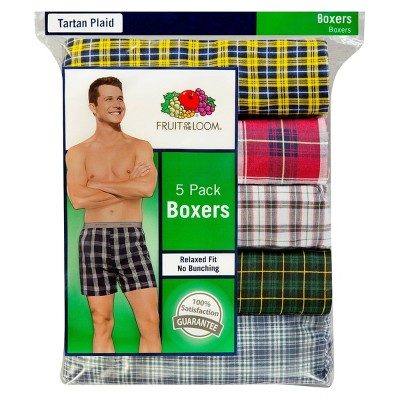 Fruit of the Loom® Men's Boxers 5pk - Tartan Plaid