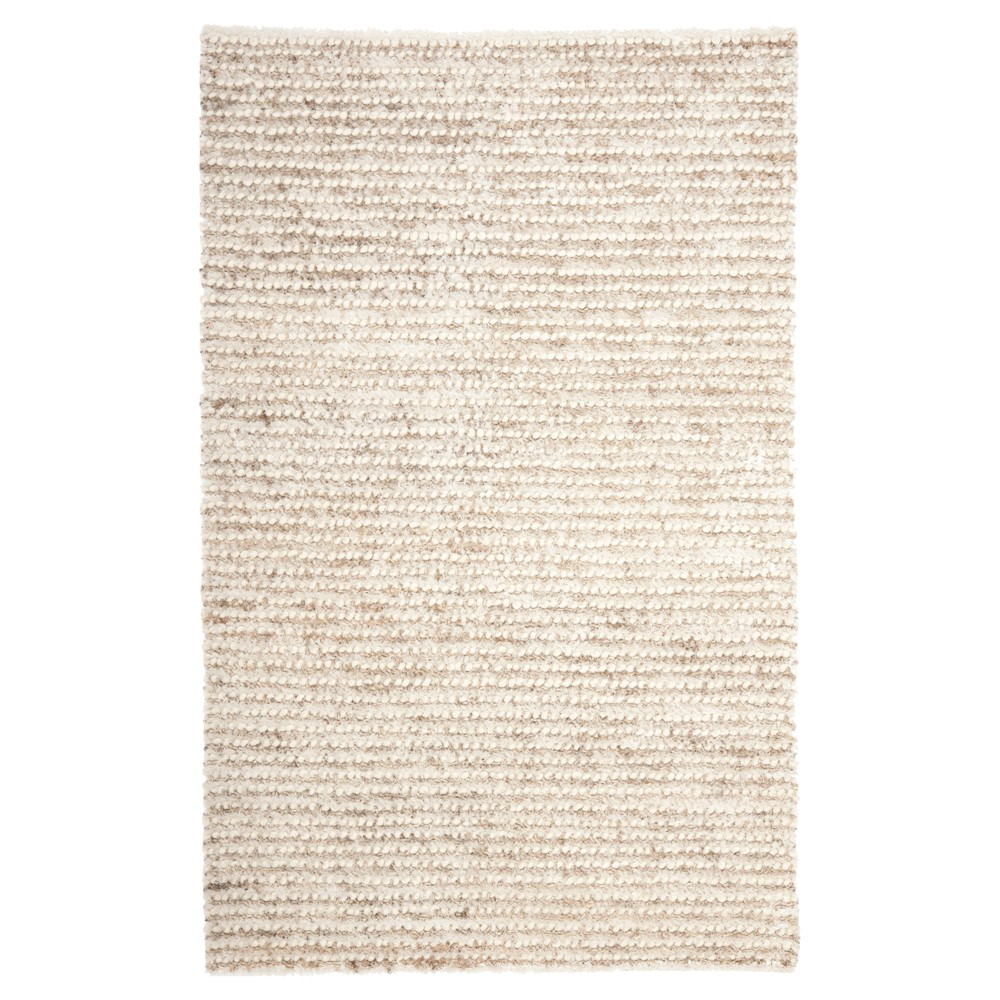 White/Beige Solid Woven Area Rug - (10'X14') - Safavieh