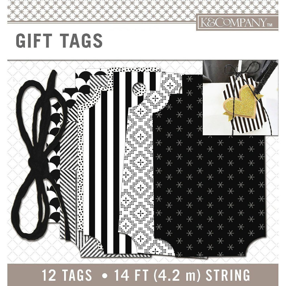 K&Company Gift Tags and String Black KandCompany Gift Tags and String Black Gender: unisex.