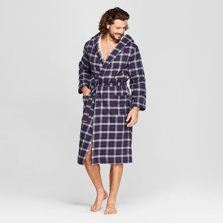 Men's Plaid Sherpa Robe - Goodfellow & Co™ Forest Green S/M