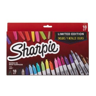 18ct Permanent Markers Promo Pack Multicolored Fine - Sharpie