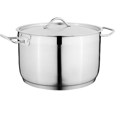 "BergHOFF Hotel 9.5"" 18/10 Stainless Steel Covered Casserole 6.4 Qt"