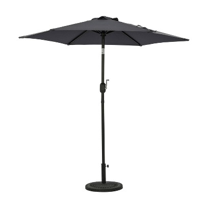 7.5' Bistro Market Patio Umbrella Slate Gray - Island Umbrella