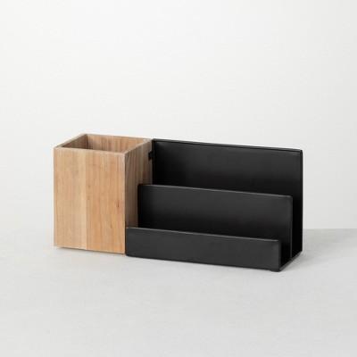 """Sullivans Office Multifunctional Storage Desk Caddy Organizer 5.5""""H Black"""
