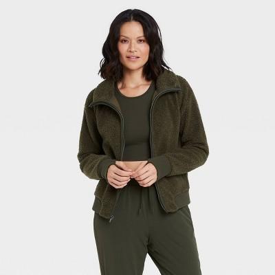 Women's Sherpa Full Zip Fleece Jacket - All in Motion™