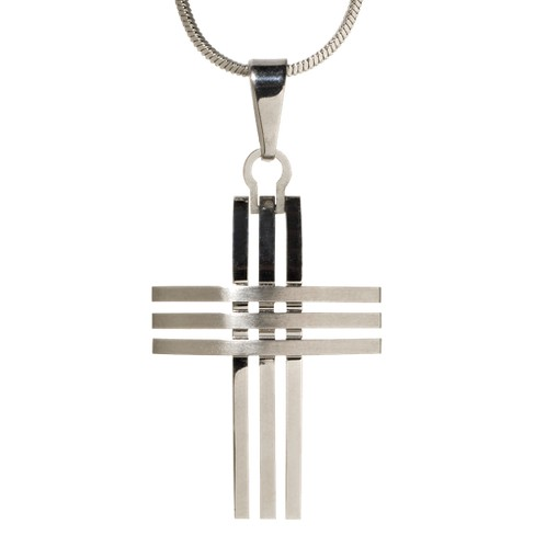 Men's Triple-Row Cross Pendant Necklace - image 1 of 1