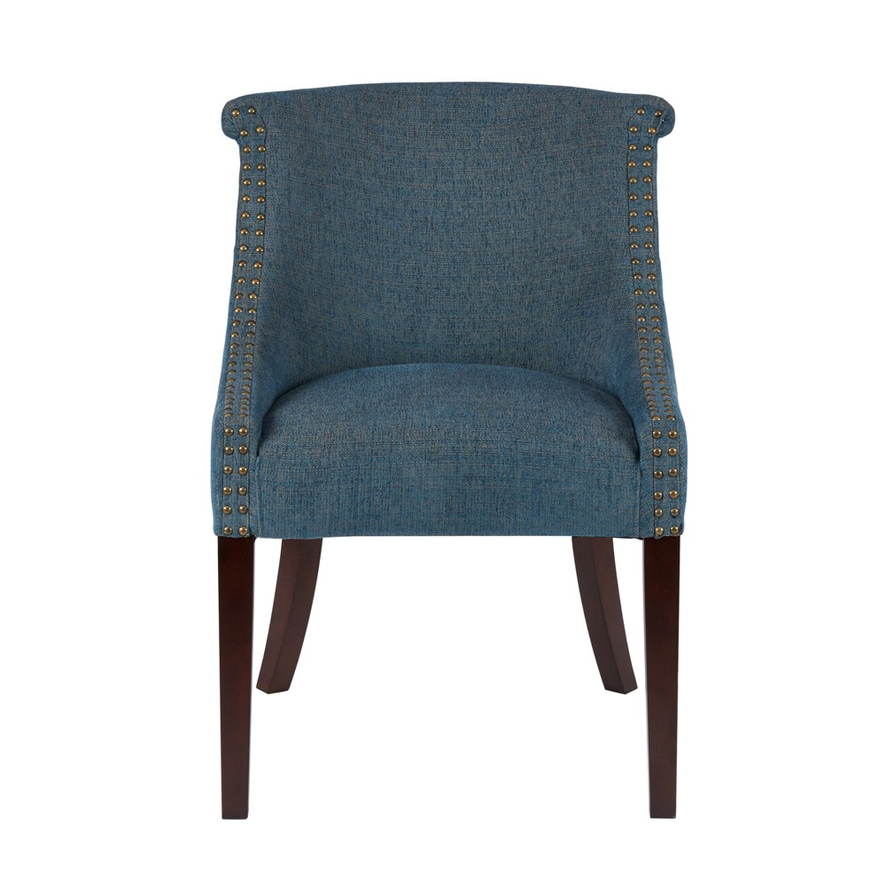 Ashley Roll Back Accent Chair Blue, Blue Multi