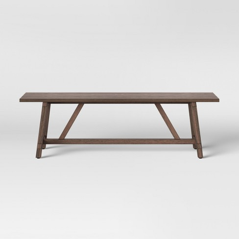 Amazing 60 Bourne Base Dining Bench Brown Threshold Alphanode Cool Chair Designs And Ideas Alphanodeonline