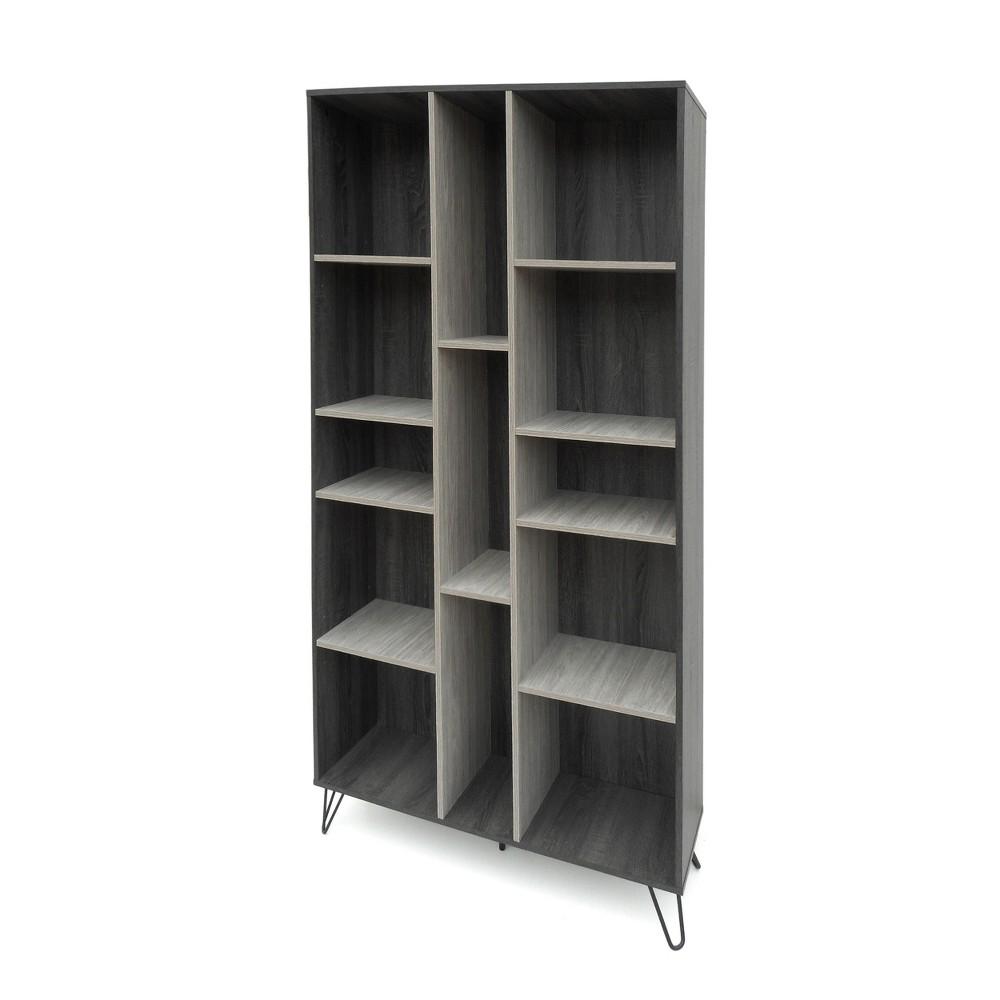 77 Imogen Modern Two Toned Bookshelf Gray Oak - Christopher Knight Home, Sonoma Grey Oak