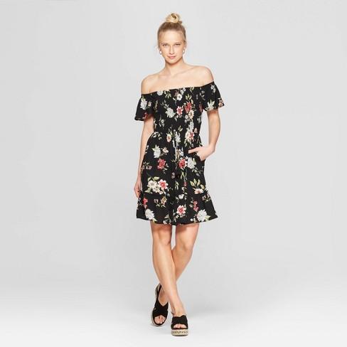 34b2bd7d698 Women's Floral Print Short Sleeve Off The Shoulder Smocked Top Dress -  Xhilaration™ Mauve. Shop all Xhilaration. colorsofseattle.  lismarie_lifestyle