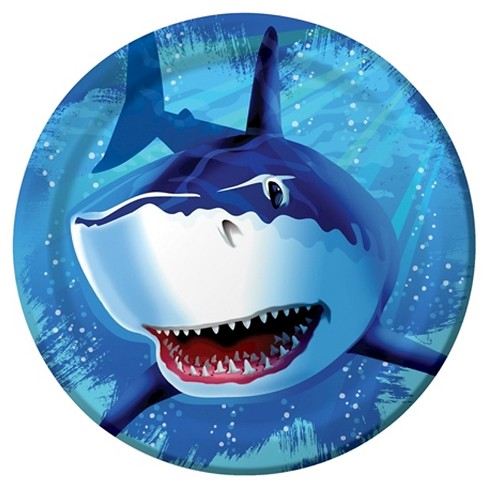 "Shark Splash 9"" Paper Plates - 8ct - image 1 of 1"