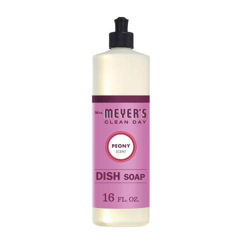 Mrs. Meyer's Peony Scented Dish Soap - 16oz - image 1 of 4