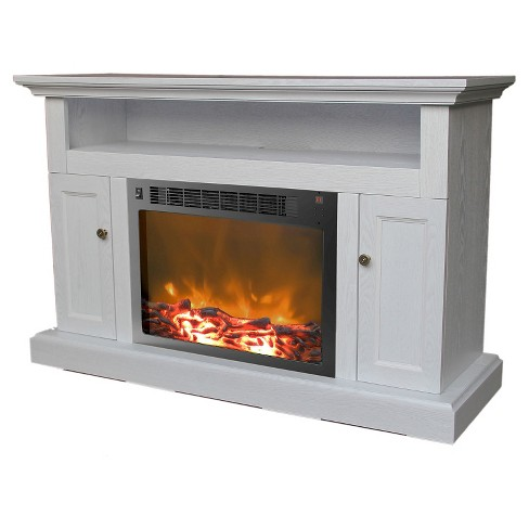 Cambridge Cam5021 2wht Soro Fireplace Mantel With Electronic Insert White Target
