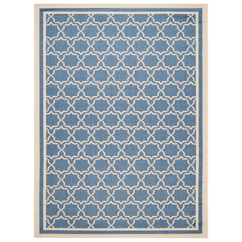 Isla Rectangle 8' X 11' Outdoor Rug - Blue / Beige - Safavieh, Blue/Beige