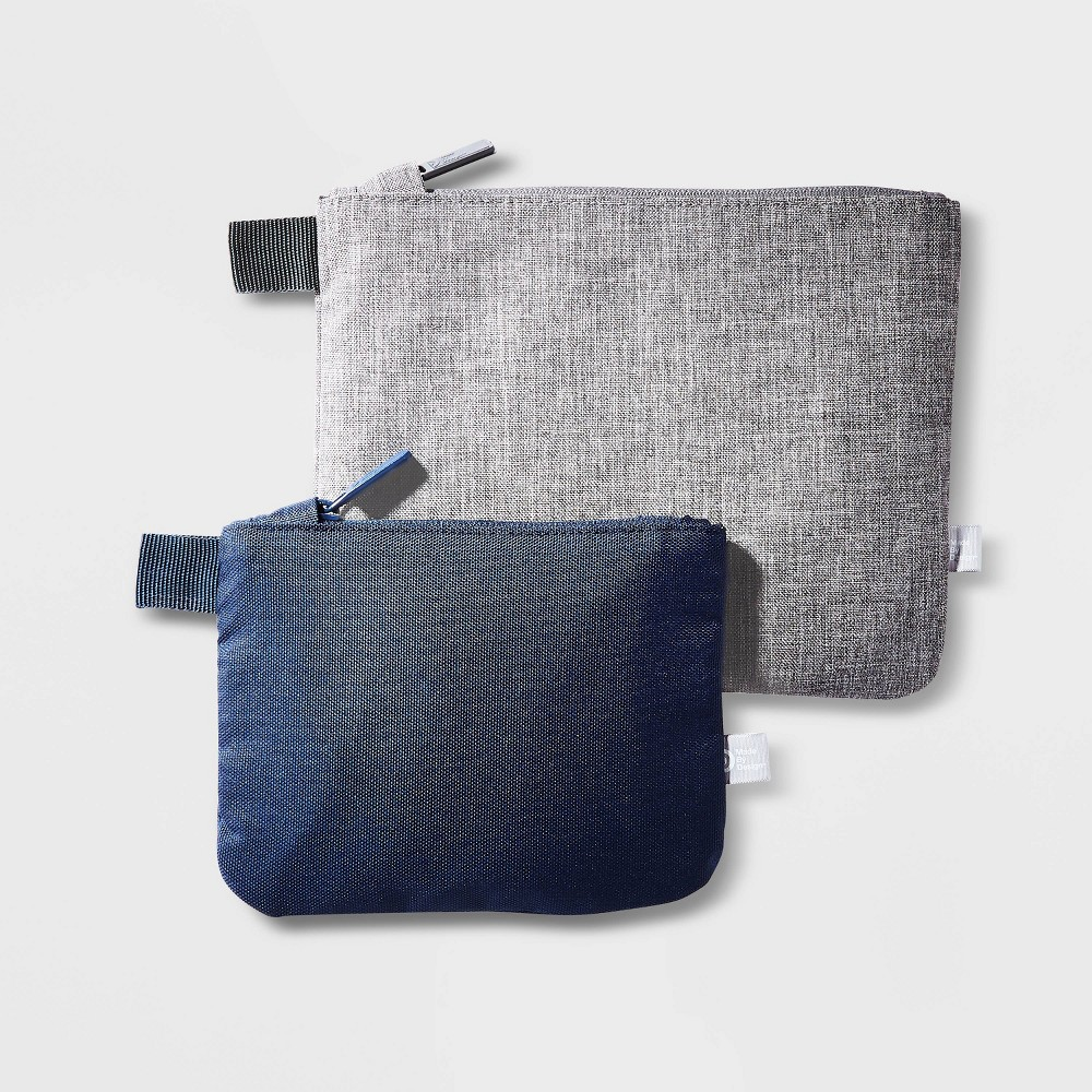 Image of 2 Pack Zip Pouches - Made By Design , Gray Blue
