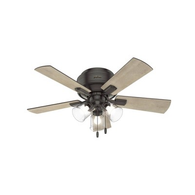 "42"" LED Crestfield Low Profile Ceiling Fan (Includes Energy Efficient Light Bulb)Bronze - Hunter"