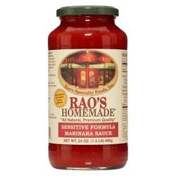Rao's Homemade® Marinara Pasta Sauce Sensitive Formula - 24oz