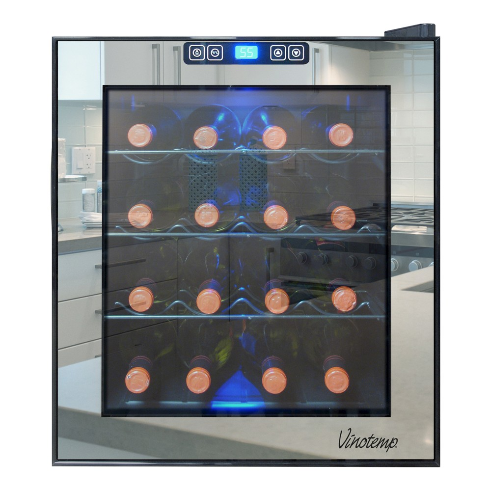 Vinotemp 16-Bottle Thermoelectric Wine Cooler – Black VT-16TSBM 50026901