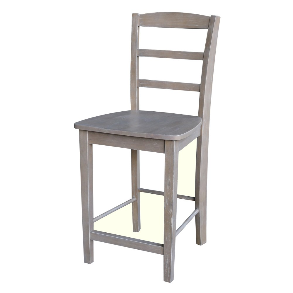 "Image of ""24.02"""" Madrid Counter height Stool Washed Gray Taupe - International Concepts, Washed Gray Brown"""