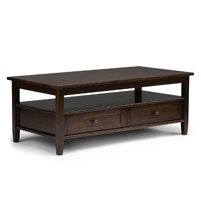 "48"" Norfolk Coffee Table Tobacco Brown - Wyndenhall"