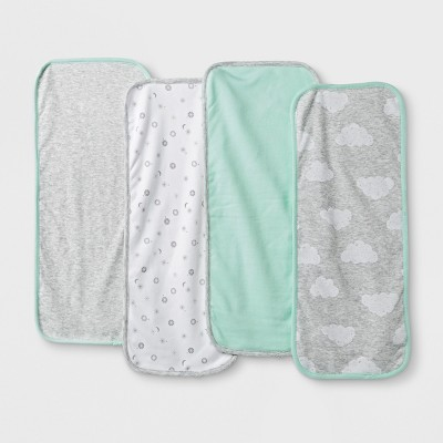 Baby Girls' 4pk Burp Cloth Set - Cloud Island™ Mint