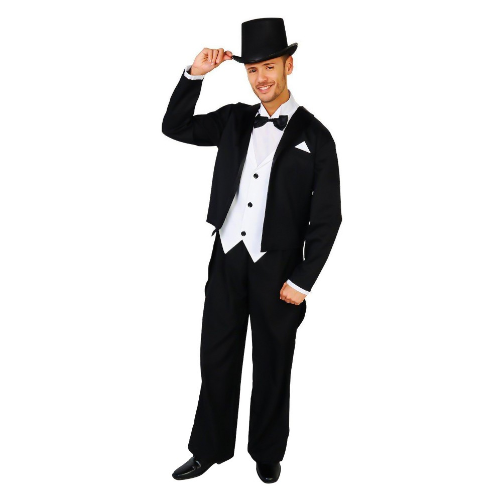 Men's Great Gatsby 1920's Tuxedo Costume Kit XL, Multi-Colored