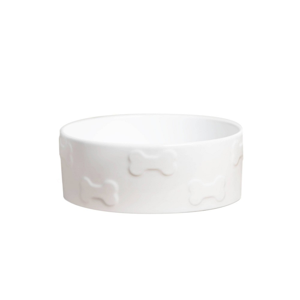 Park Life Designs Dog Bowl 4 Cup M Manor White 6 25 34