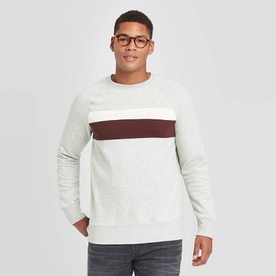 Men's Colorblock Regular Fit Crew Fleece Sweatshirt - Goodfellow & Co™ Red