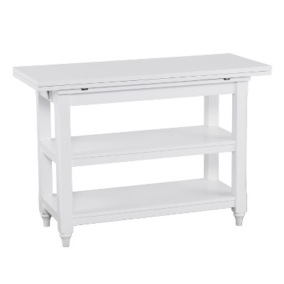 Alby Convertible Console To Extendable Dining Table White - Aiden Lane