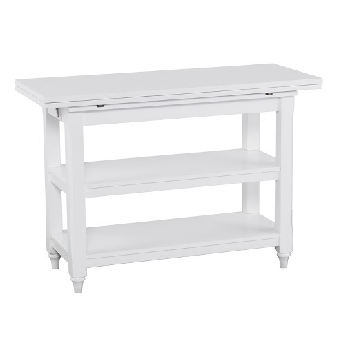 Alby Convertible Console To Dining Table White Aiden Lane