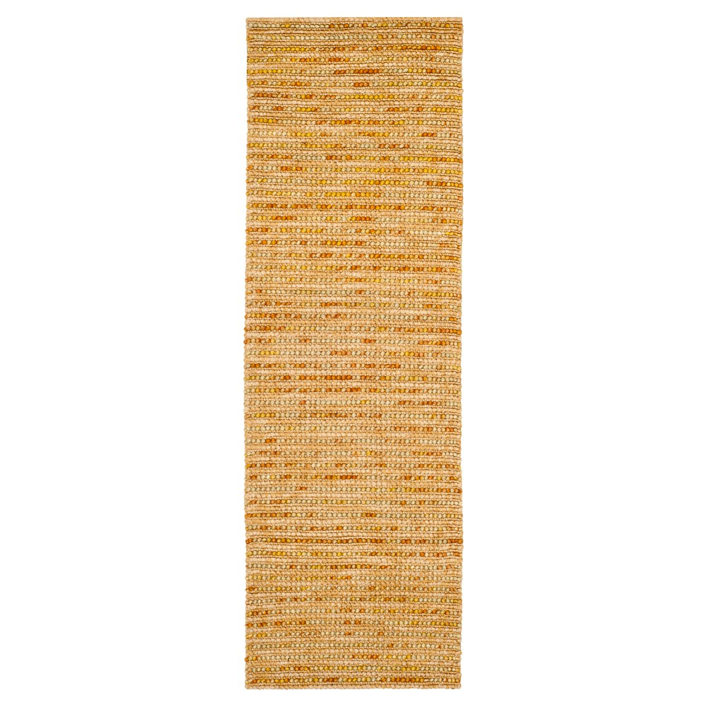Gold/Multi Stripes Tufted Runner - (2'6X8' Runner) - Safavieh, Gold/Multicolor