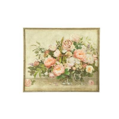 """37.5"""" Flower Bouquet Framed Wall Canvas Art - 3R Studios"""