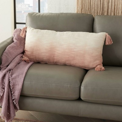 """14""""x30"""" Life Styles Ombre Tassels Throw Pillow - Mina Victory : Target"""